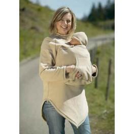 Abrigo para usar con portabebés en forro polar (Envío Gratis)