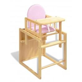 Trona convertible en mesa y silla. ROSA (Envío gratis)