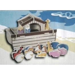 Arca de noé puzzle madera